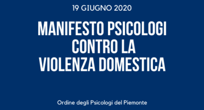 Manifesto psicologi contro la violenza domestica