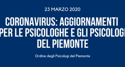 DPCM 21 MARZO 2020. Prosecuzione attività studi professionali di Psicologia