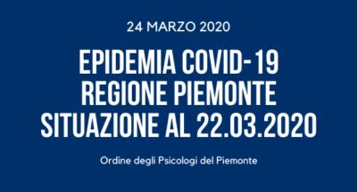 Epidemia COVID-19 REGIONE PIEMONTE situazione al 22-03-20