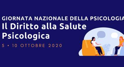 """Giornata Nazionale della Psicologia 2020 """"Il Diritto alla Salute Psicologica"""""""