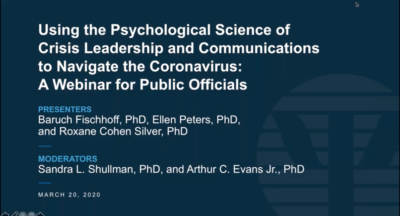 Using the Psychological Science of Crisis Leadership and Communications to Navigate COVID 19