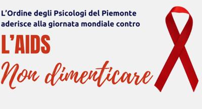 L'Ordine degli Psicologi del Piemonte aderisce alla giornata mondiale contro l'AIDS